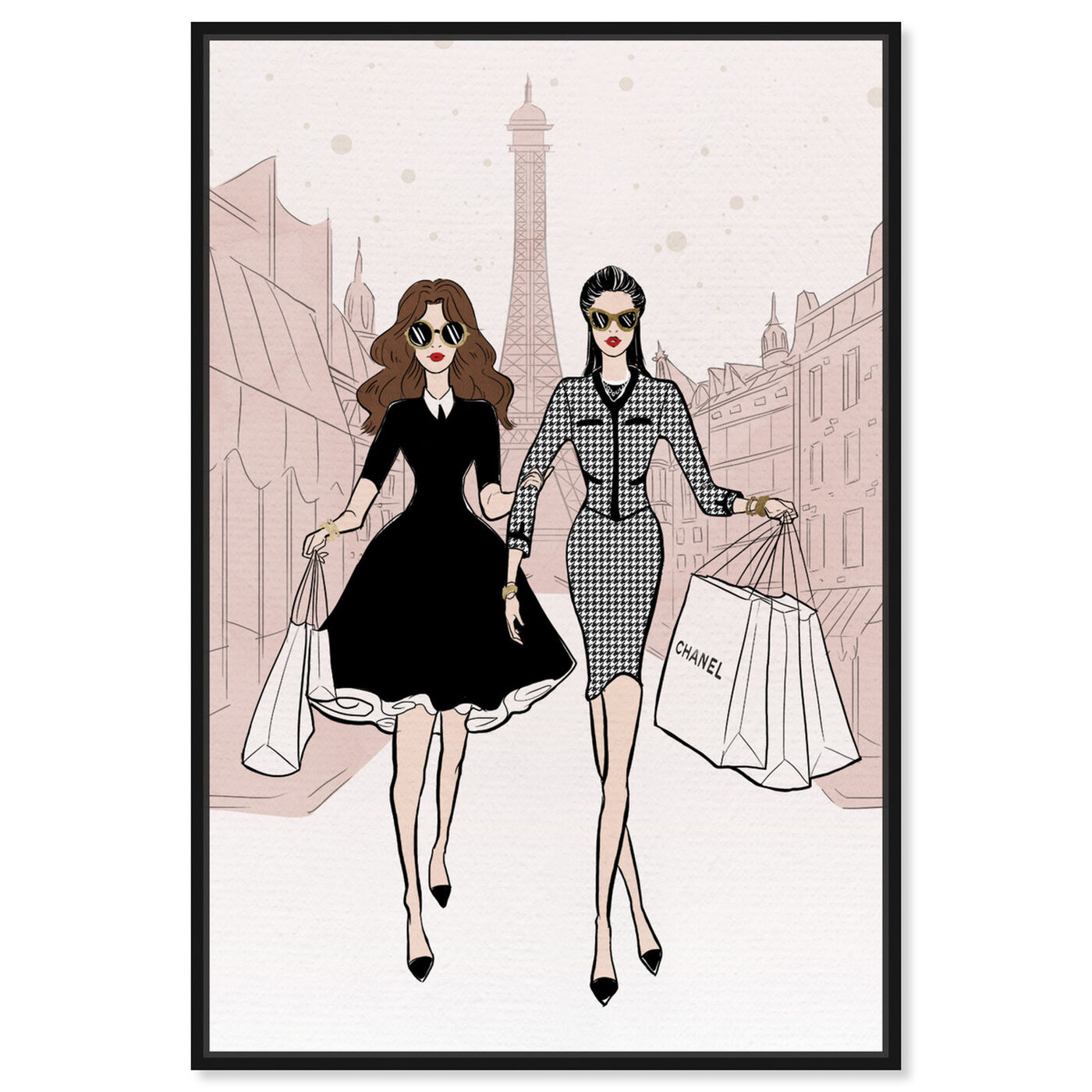 Front view of Designated Shopping Buddy II featuring fashion and glam and outfits art.