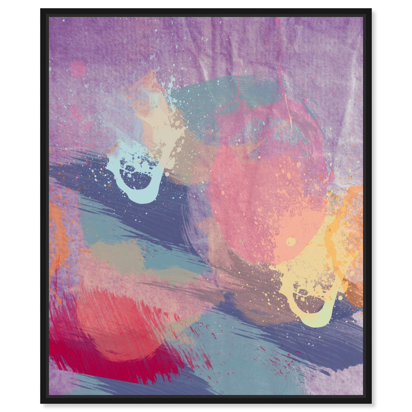 Front view of Lavender Mist featuring abstract and paint art.