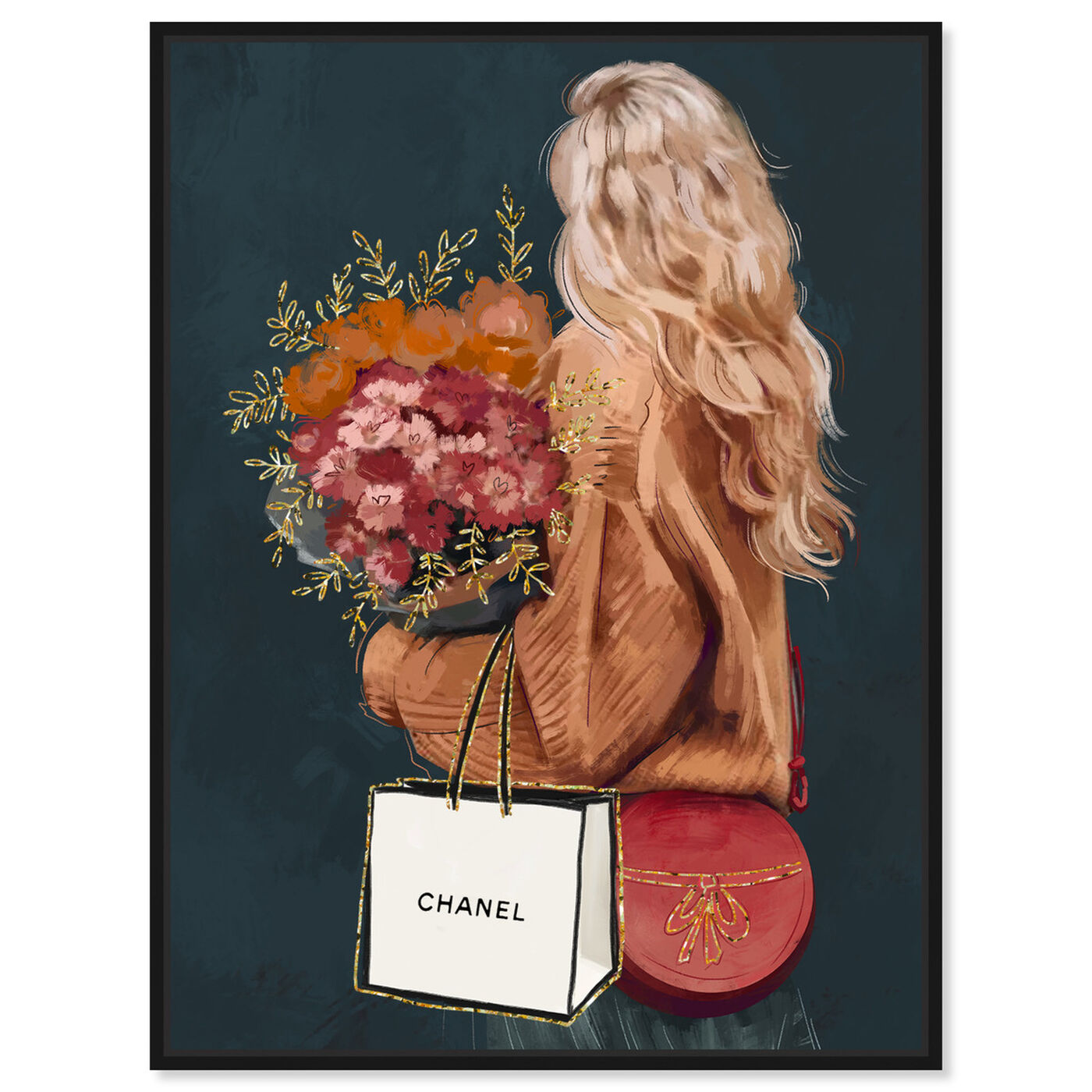 Front view of Freshly Picked featuring fashion and glam and handbags art.