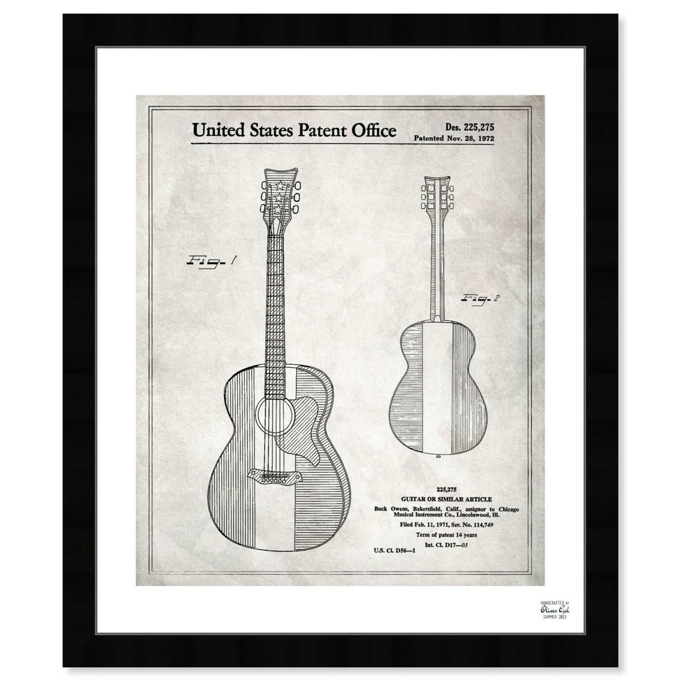 Front view of Buck Owens Guitar 1972 I featuring music and dance and music instruments art.