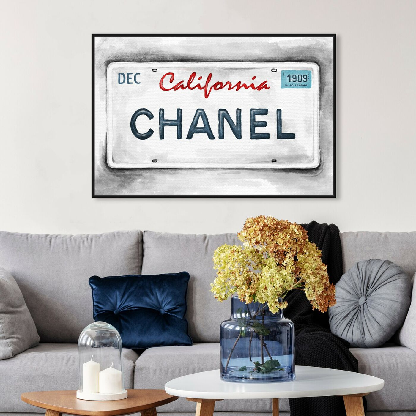 Hanging view of Luxury Tags' by Carson Kressley featuring fashion and glam and travel essentials art.