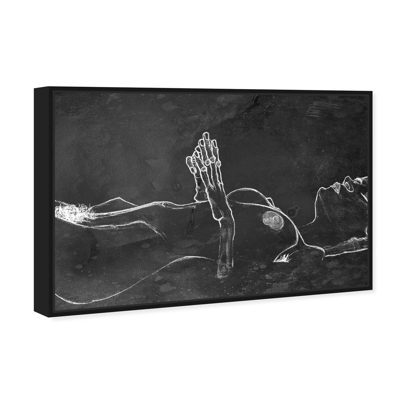 Angled view of Schiele Nude Chalk featuring classic and figurative and nudes art.