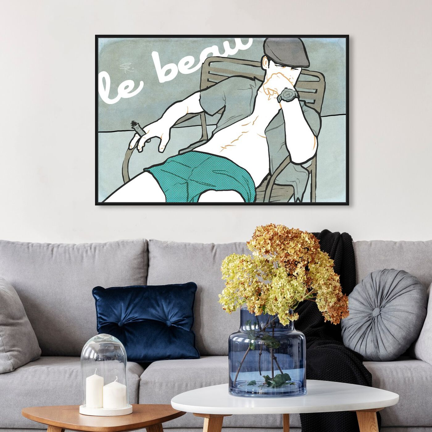 Hanging view of Le Beau featuring fashion and glam and fashion art.