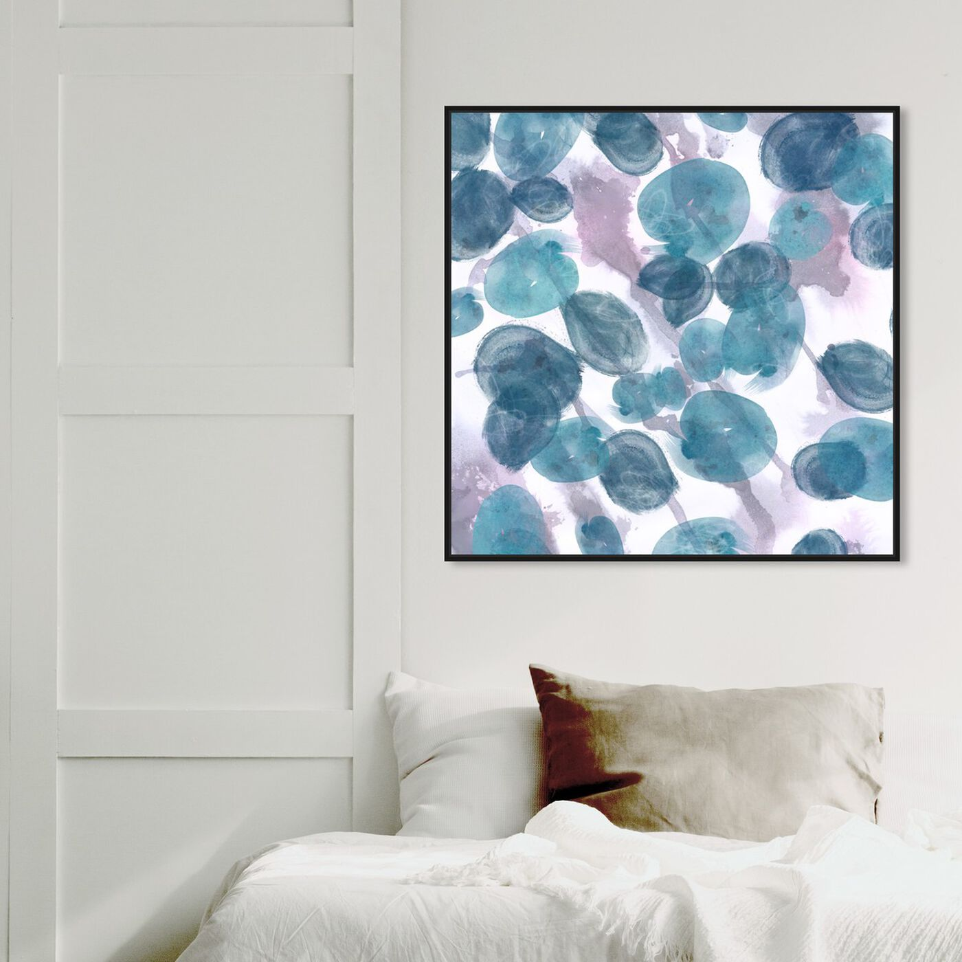 Hanging view of Bubbles featuring abstract and paint art.
