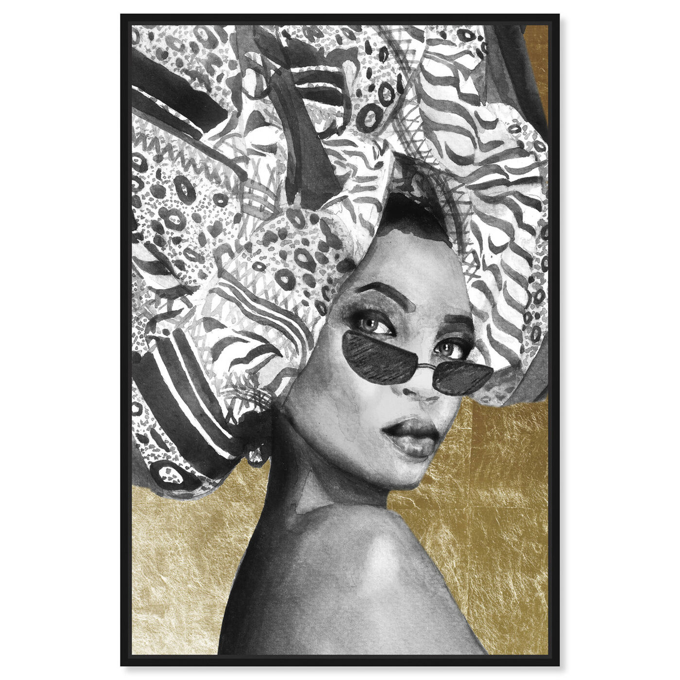 Front view of Goddess of Tigris featuring fashion and glam and portraits art.