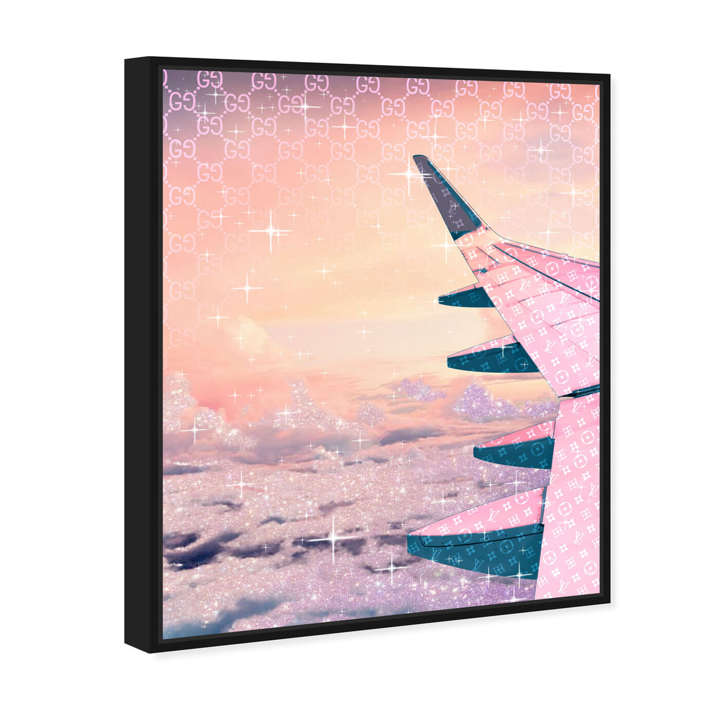 Angled view of Taupe Horizon featuring transportation and airplanes art.