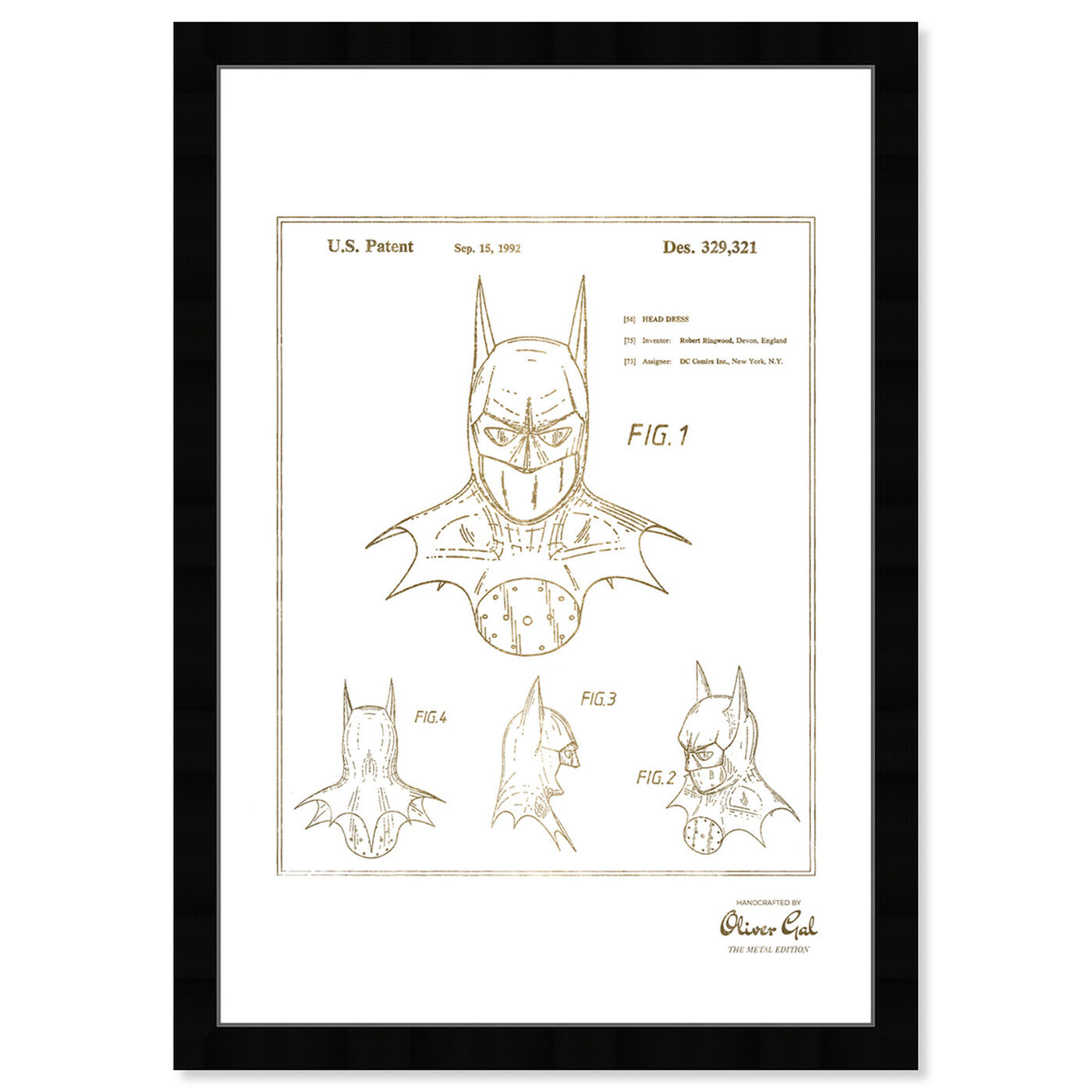 Front view of Batman 1992 Gold featuring movies and tv and movie characters art.