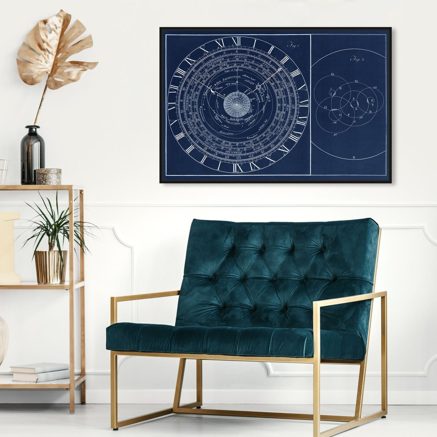 Hanging view of Astronomical Clock featuring astronomy and space and constellations art.