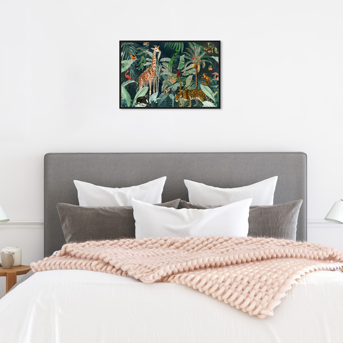 Hanging view of Jungle Reves featuring animals and zoo and wild animals art.