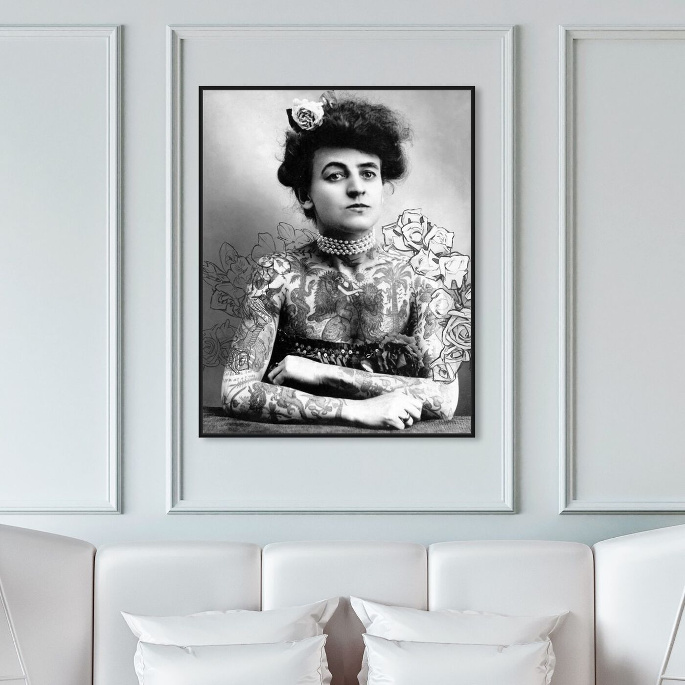 Hanging view of Maud featuring classic and figurative and modern classic art.