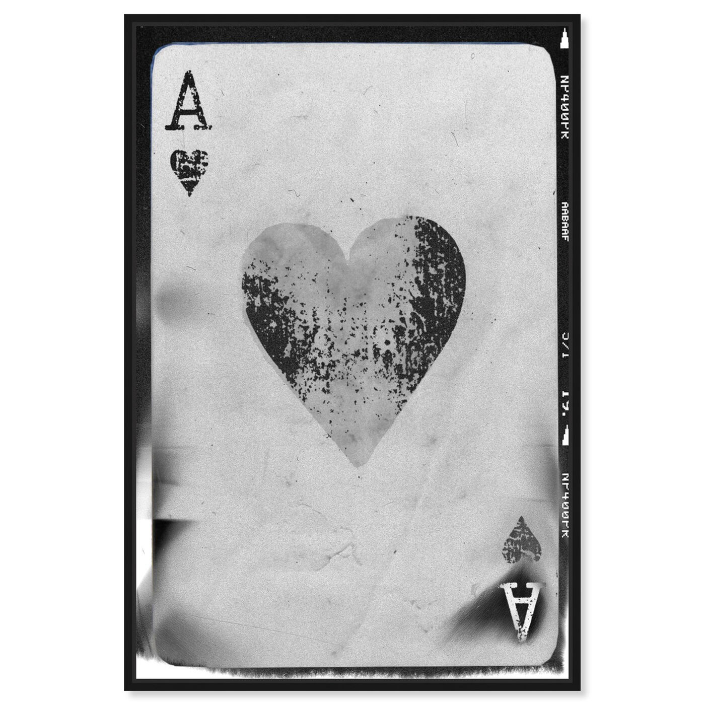 Front view of Ace of Hearts Reversed featuring entertainment and hobbies and poker art.