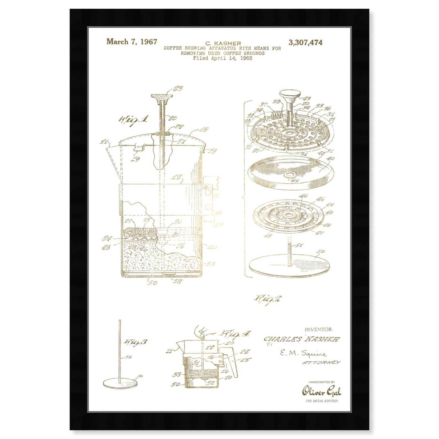 Front view of Coffee Brewing Apparatus 1967 featuring drinks and spirits and coffee art.