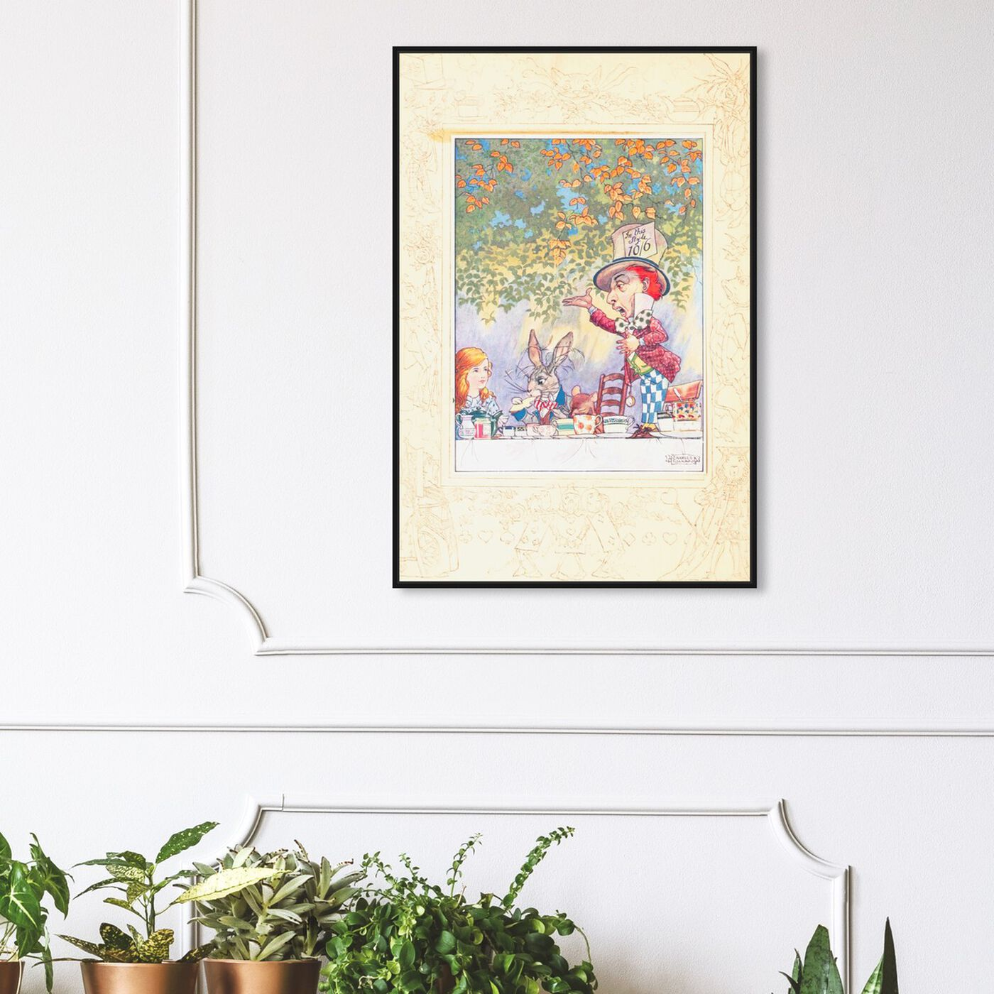 Hanging view of Tea Party featuring fantasy and sci-fi and fairy tales art.