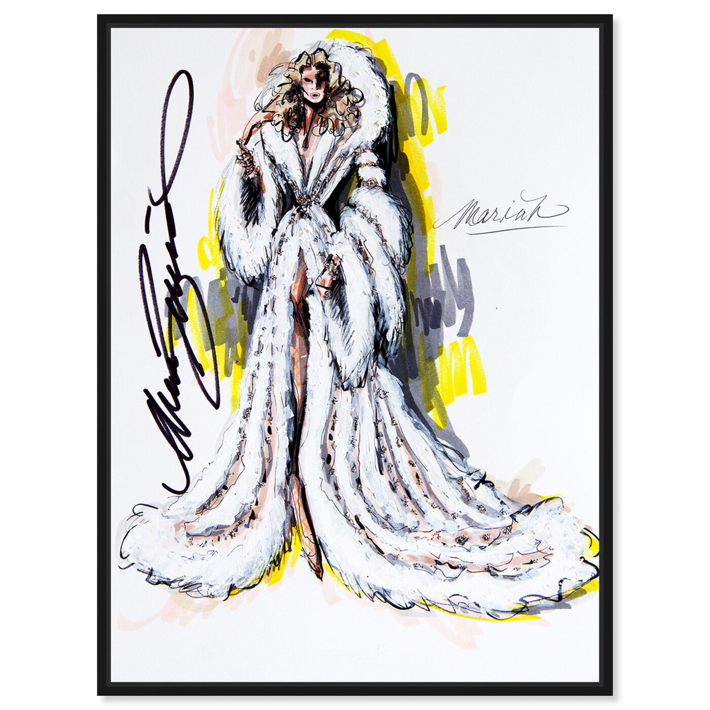 Front view of Mark Zunino - Mariah featuring fashion and glam and dress art.