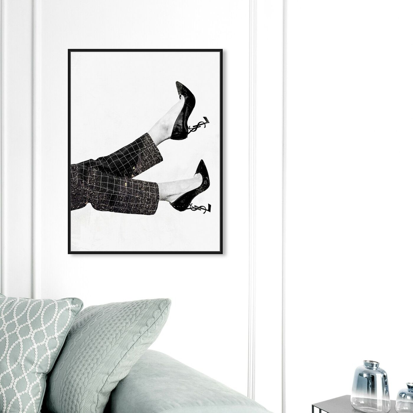 Hanging view of Patent Monogram featuring fashion and glam and shoes art.