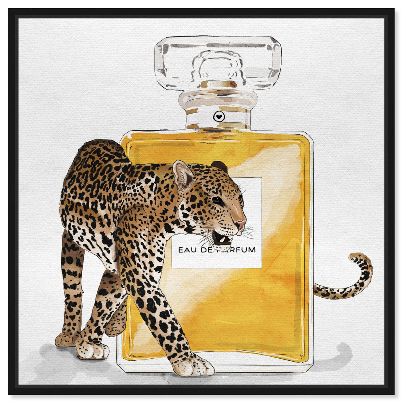 Front view of Exotic Perfume Leopard featuring fashion and glam and perfumes art.