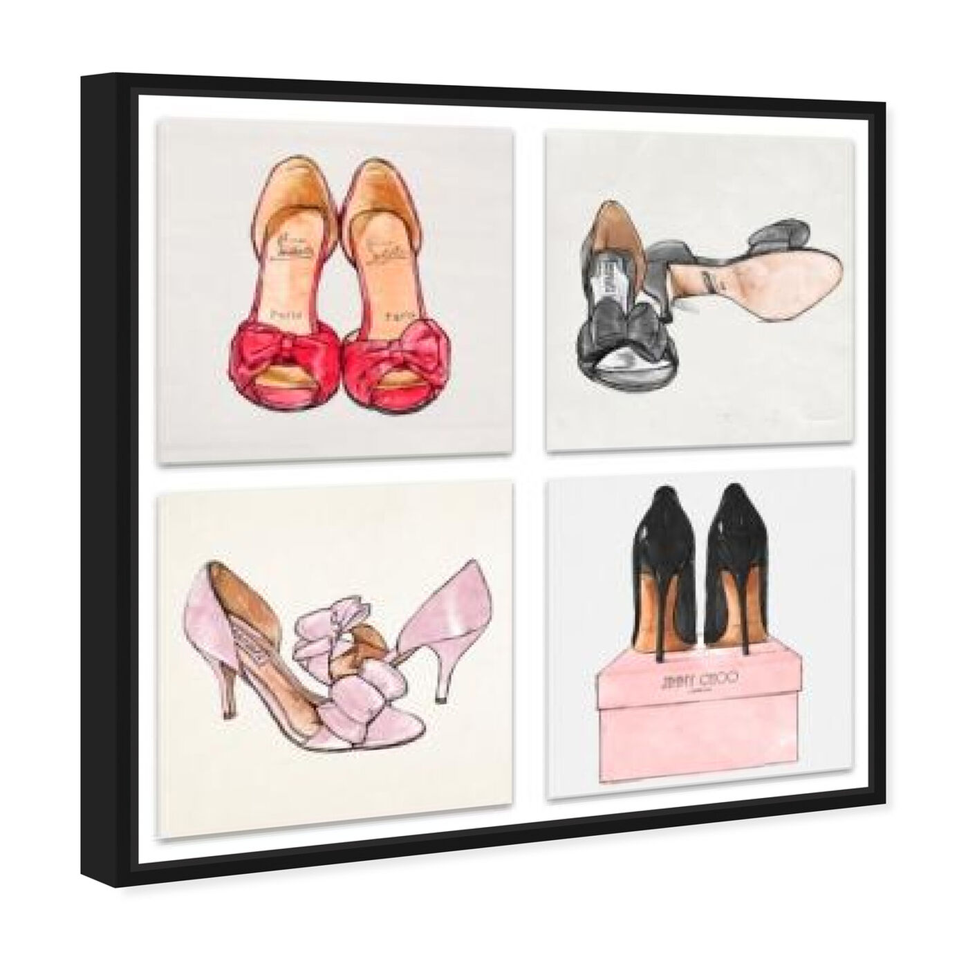 Angled view of My Shoes - Set of 4 featuring fashion and glam and shoes art.