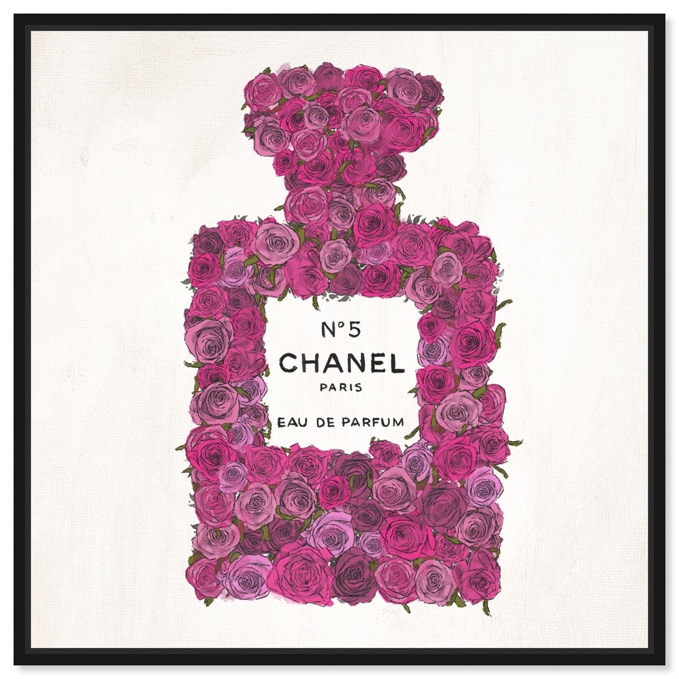 Front view of Number 5 Rose featuring fashion and glam and perfumes art.