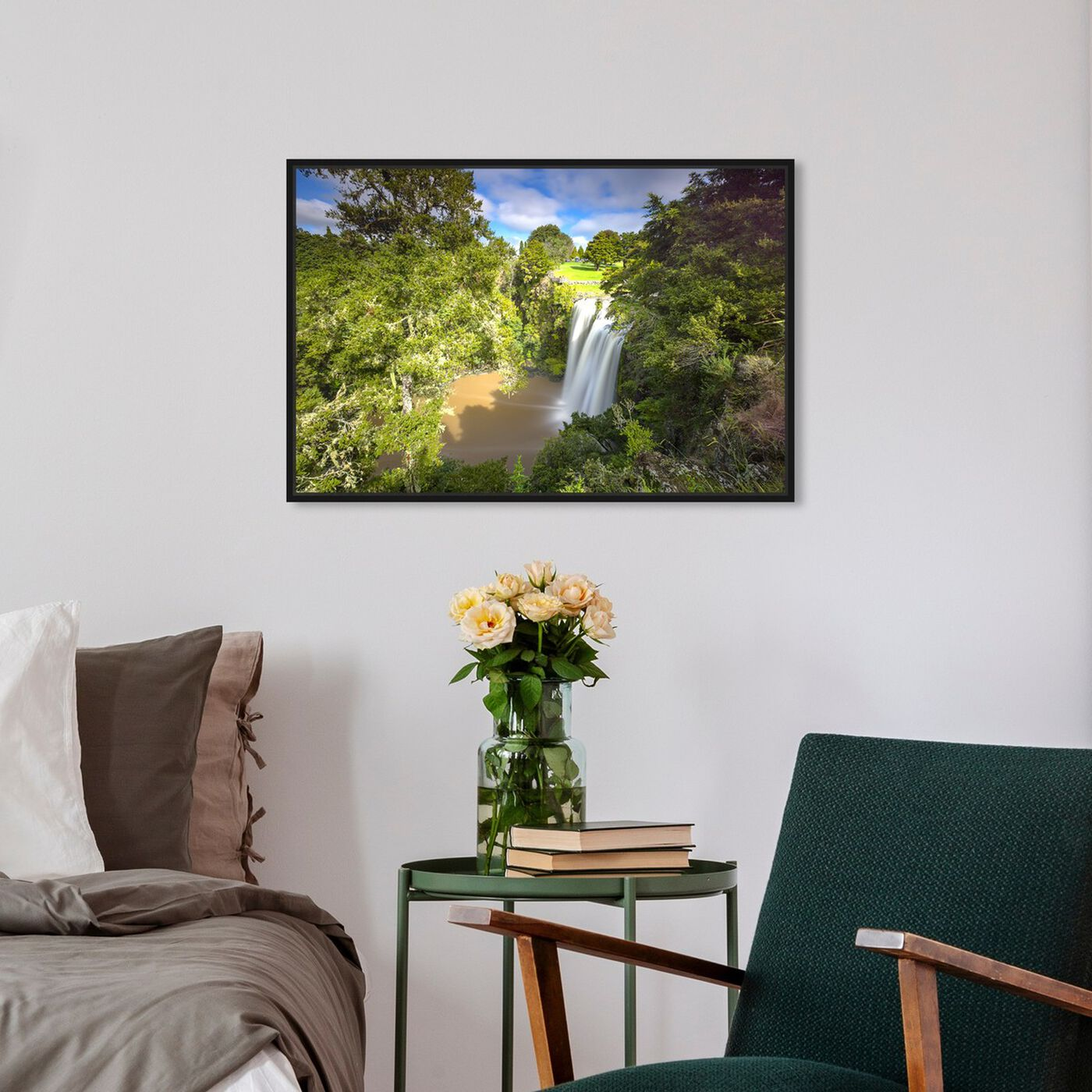 Hanging view of Curro Cardenal - Rainforest II featuring nature and landscape and nature art.