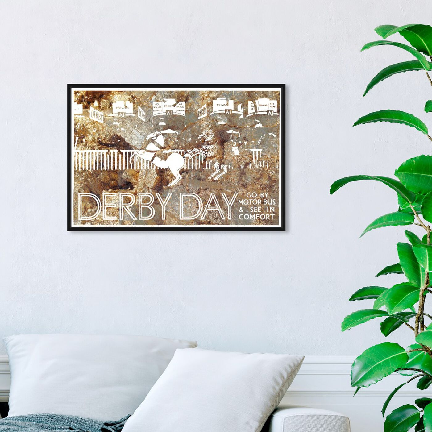 Hanging view of Come See The Derby featuring sports and teams and equestrian art.
