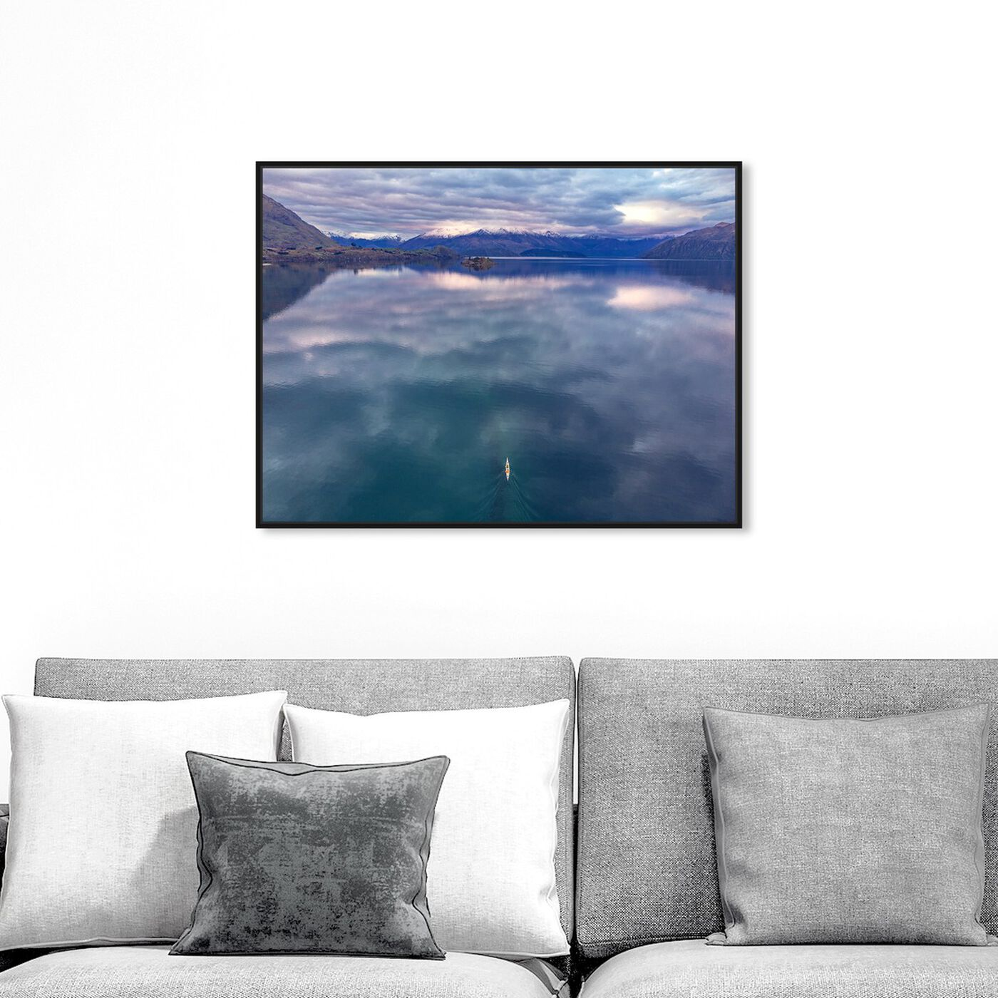 Hanging view of Curro Cardenal - Rowing Breath featuring nature and landscape and nature art.