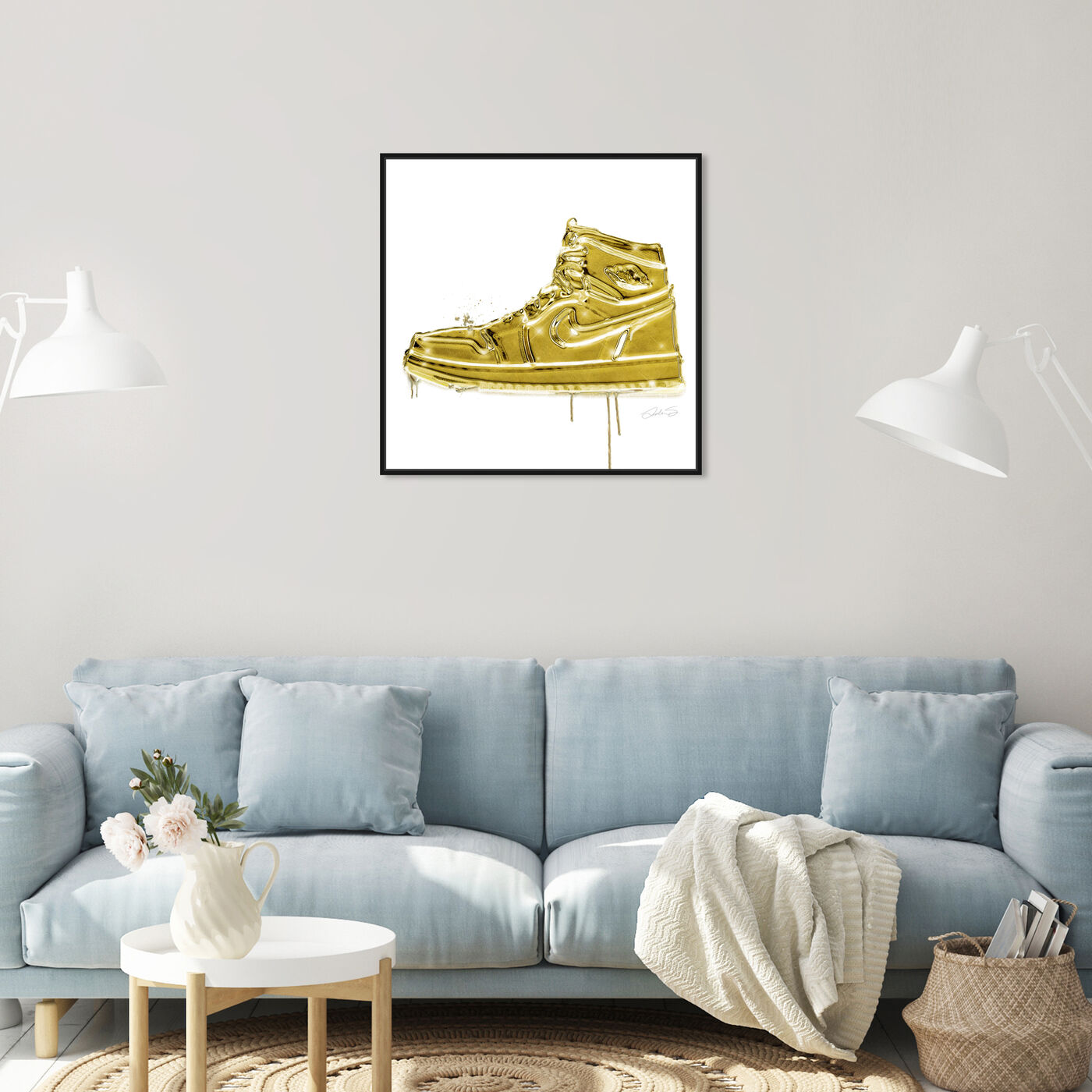 Hanging view of Lola Air Golden featuring fashion and glam and shoes art.