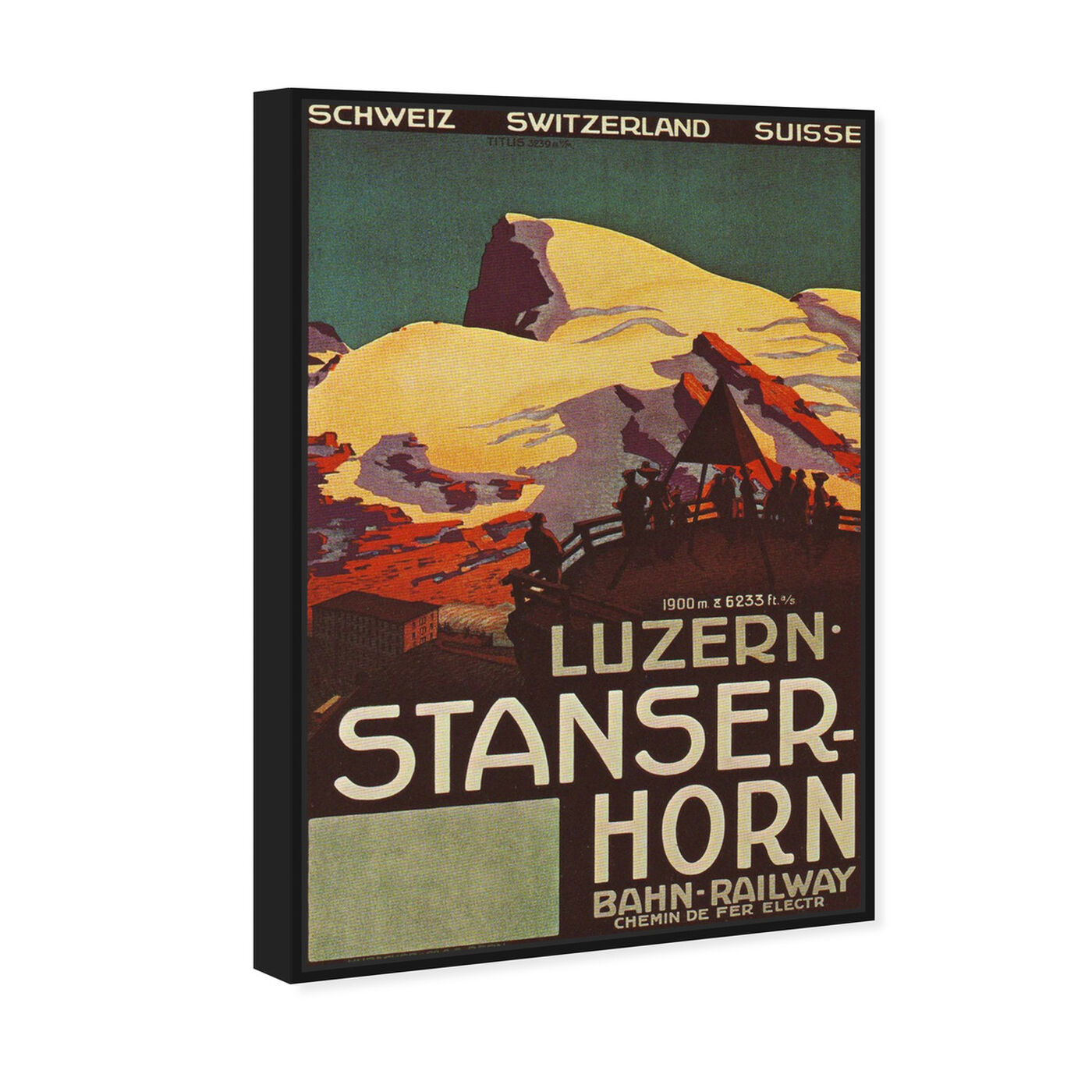 Angled view of Stanser Horm featuring advertising and posters art.