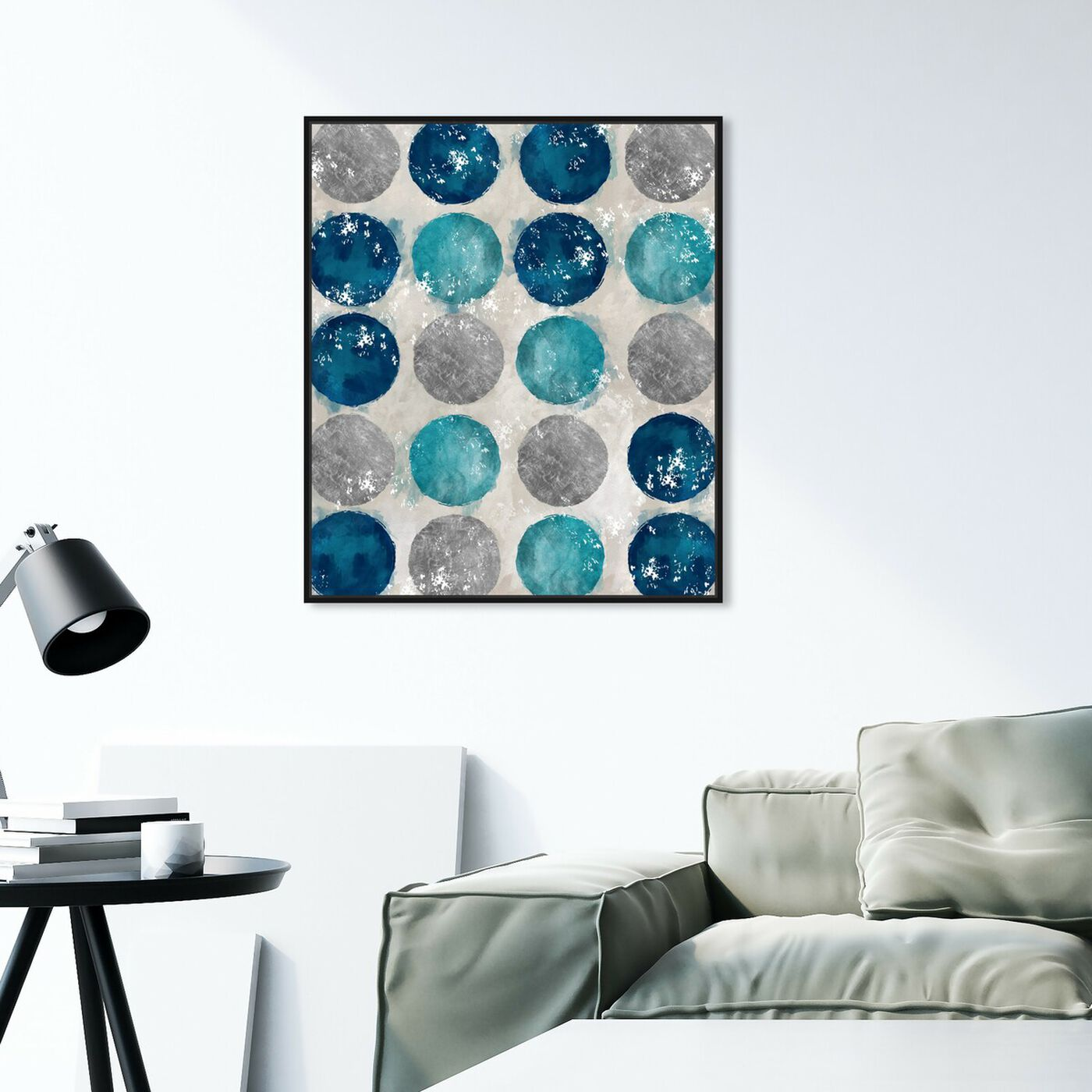 Hanging view of Circular Move I featuring abstract and geometric art.