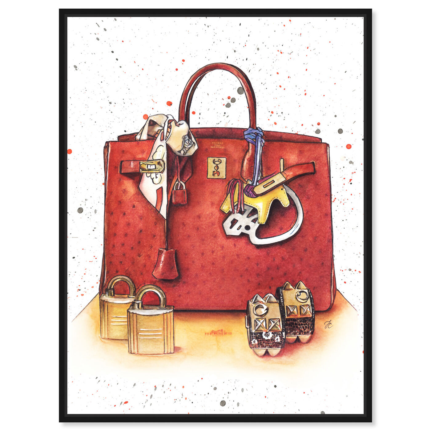 Front view of Doll Memories - Caramel Splash Bag featuring fashion and glam and handbags art.