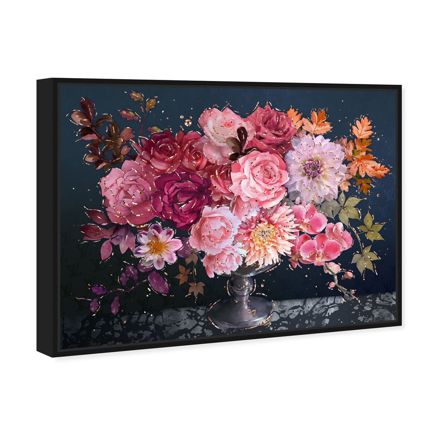 Angled view of Royal Navy Bouquet featuring floral and botanical and florals art.