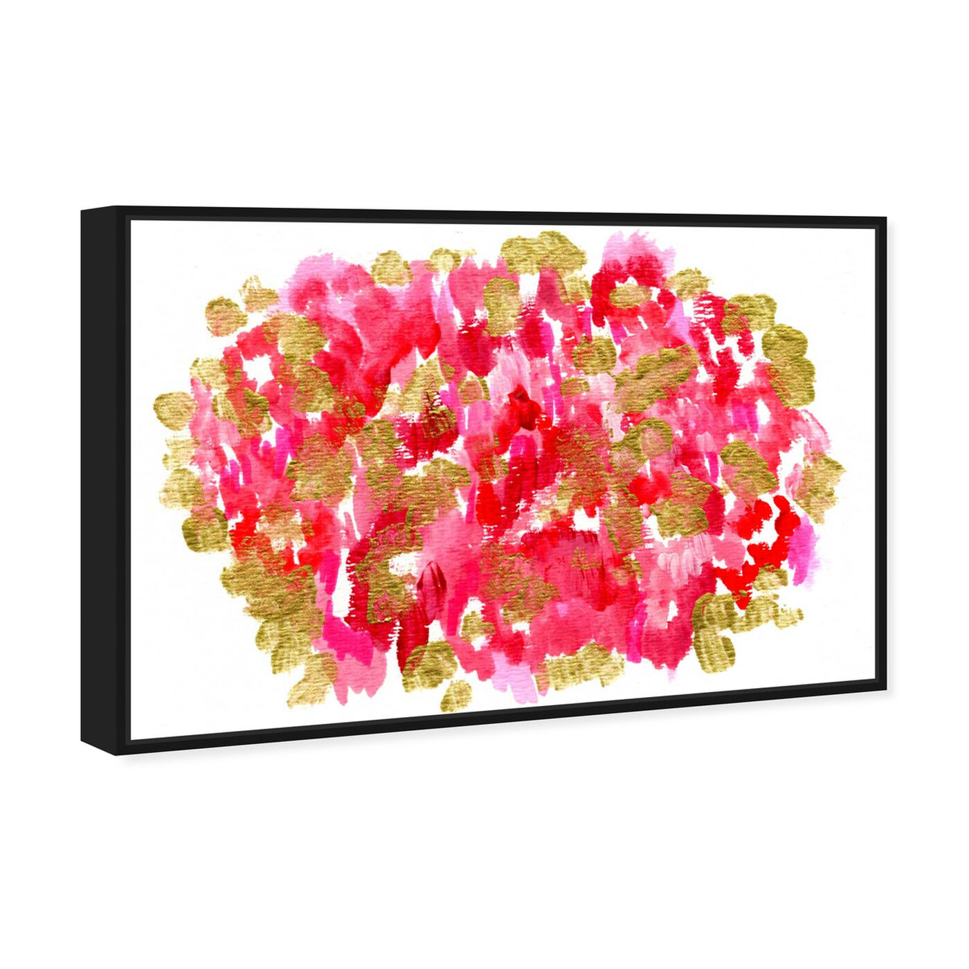 Angled view of Pomegranate Garden featuring abstract and paint art.