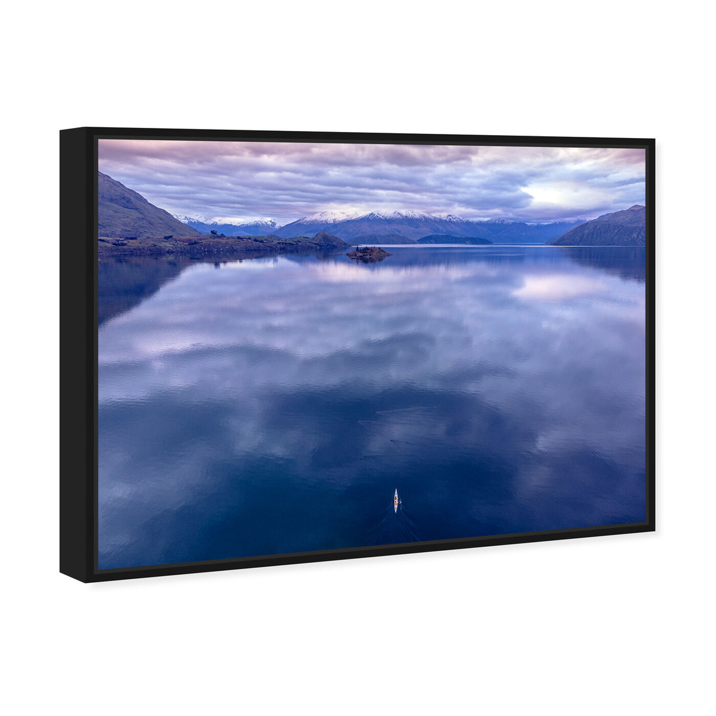 Angled view of Curro Cardenal - Rowing Breath II featuring nature and landscape and mountains art.