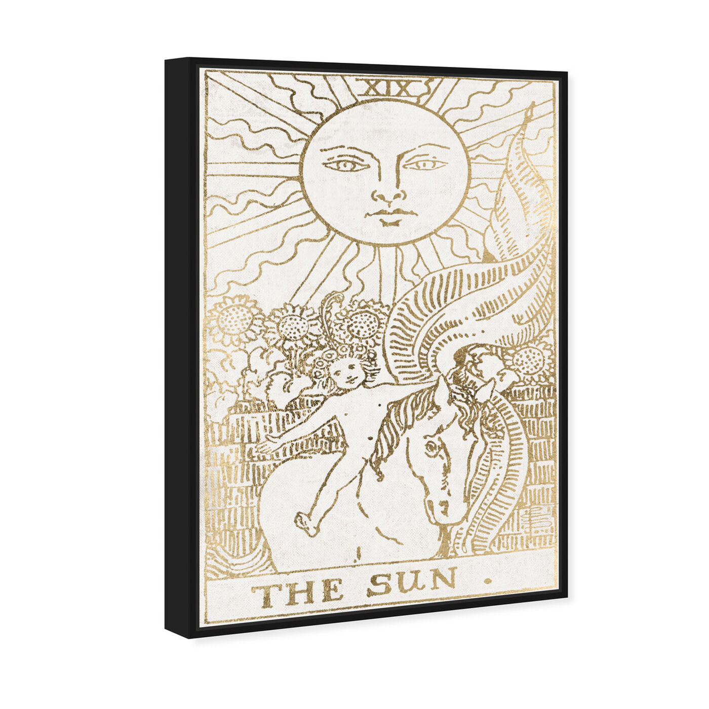 Angled view of The Sun Tarot Luxe featuring astronomy and space and zodiac art.