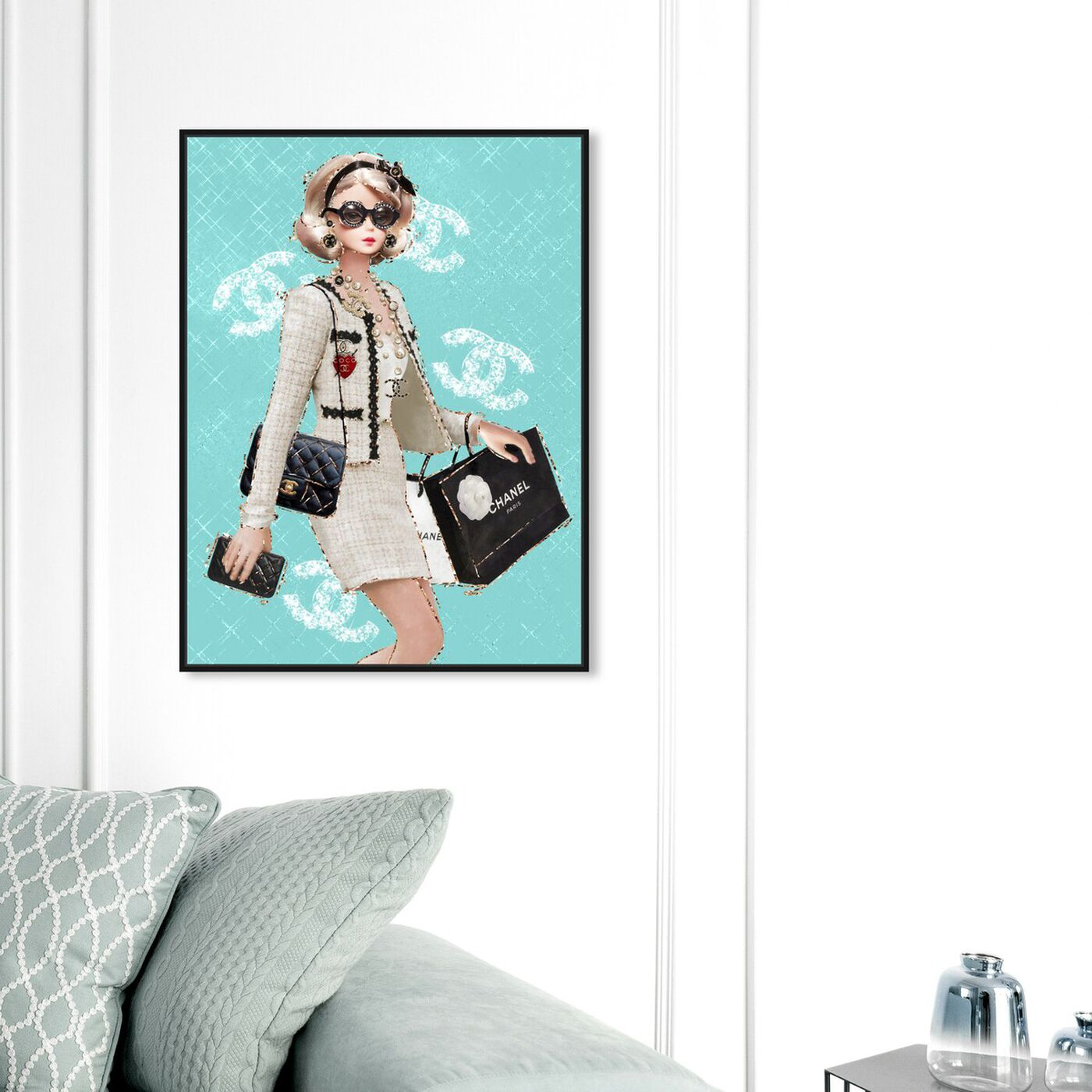 Hanging view of Breakfast Where? featuring fashion and glam and dolls art.