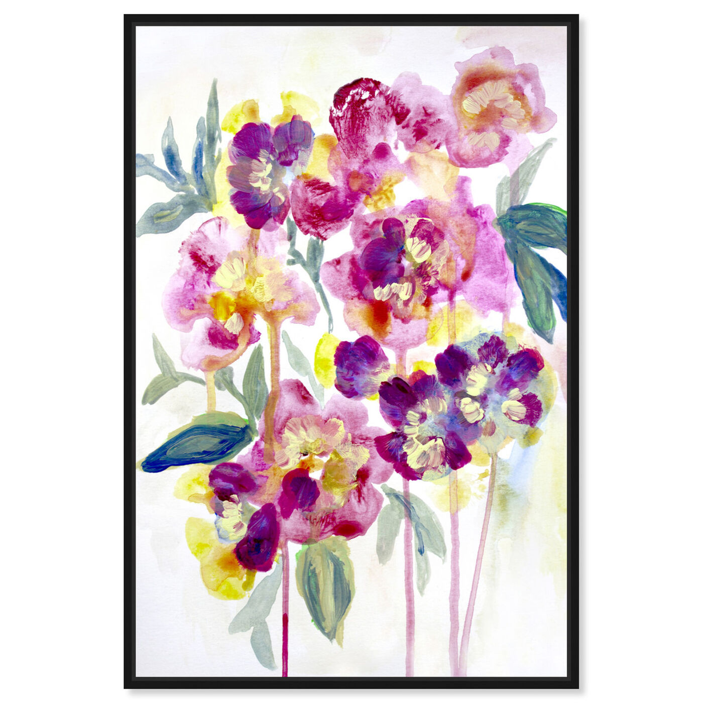 Front view of Floral Dawny featuring floral and botanical and florals art.