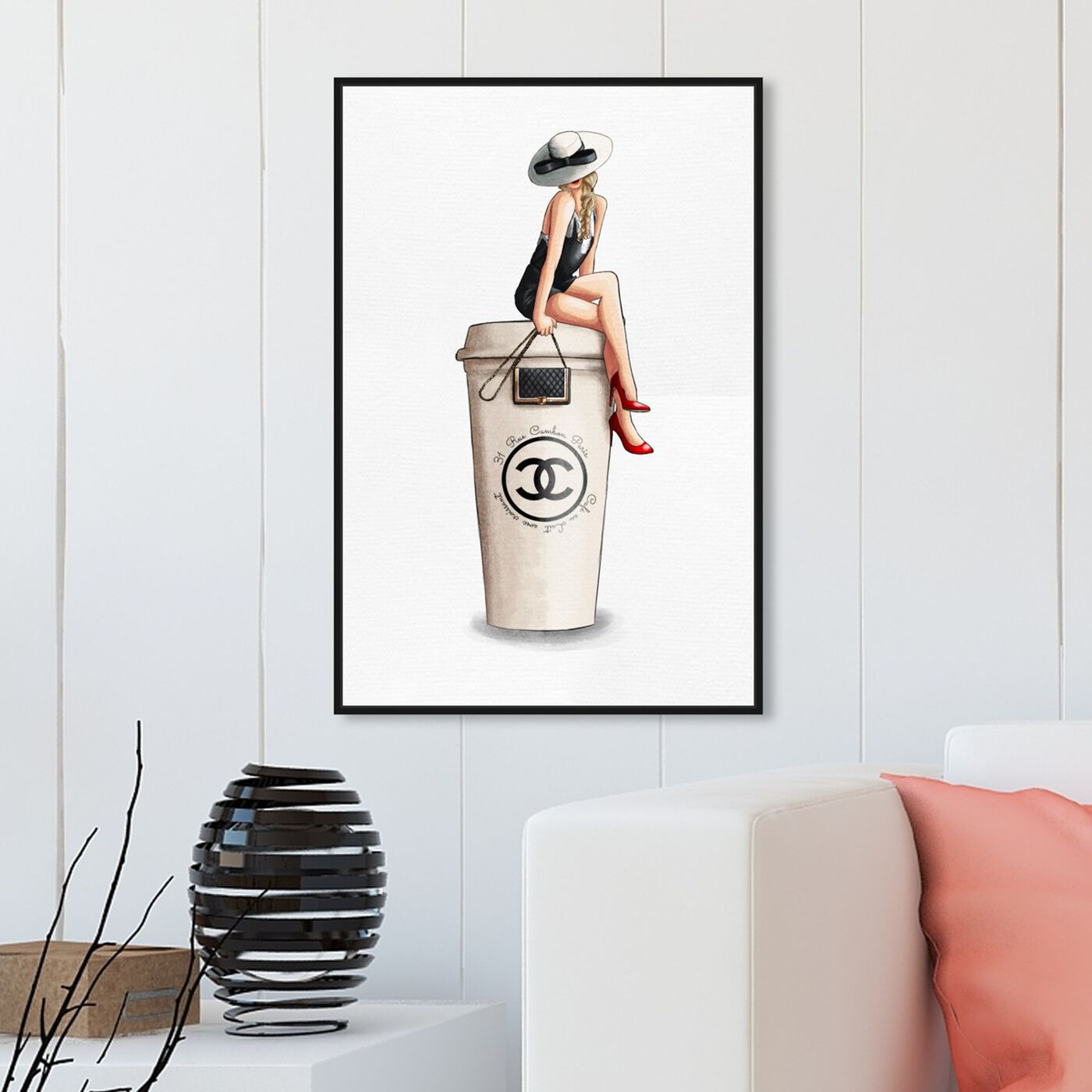 Hanging view of Cafe Au Lait Cambon featuring fashion and glam and handbags art.