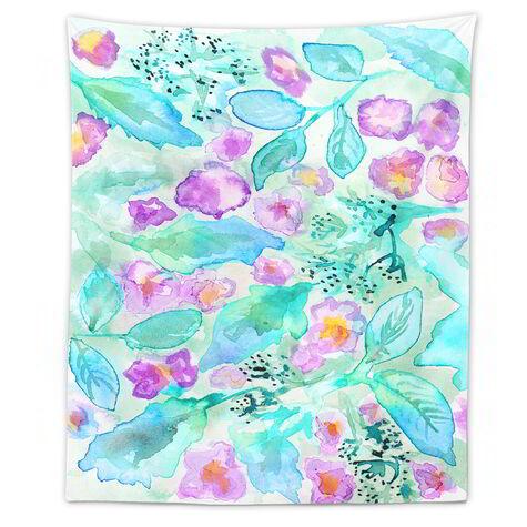 Lavander Floral Mirage Tapestry Art