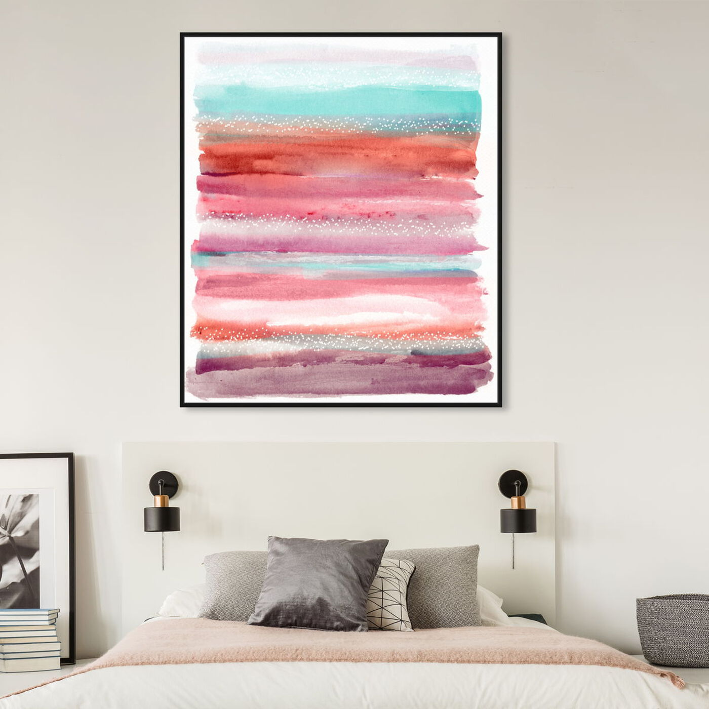 Hanging view of Lares Sunset Aman featuring abstract and paint art.