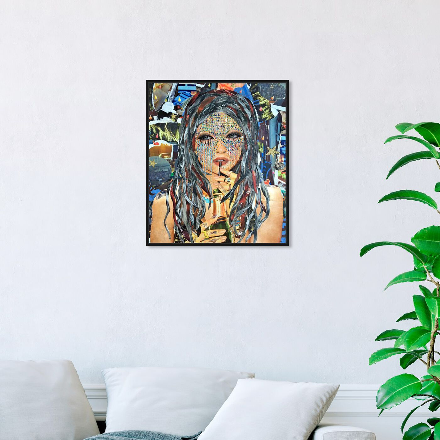 Hanging view of Rose All Day by Katy Hirschfeld featuring fashion and glam and portraits art.