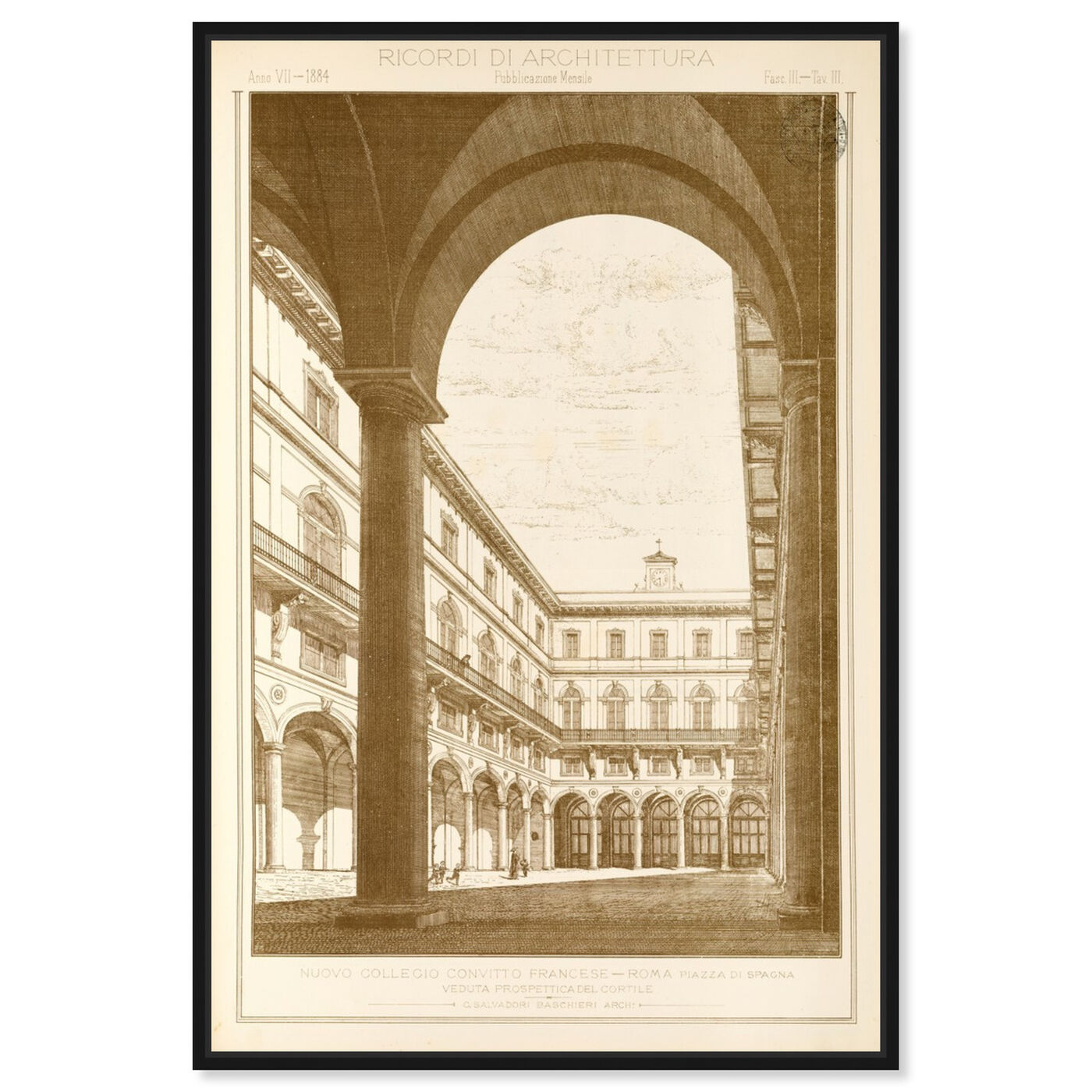 Front view of Roma Piazza di Spacna - The Art Cabinet featuring architecture and buildings and structures art.