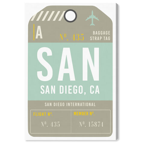 San Diego Luggage Tag