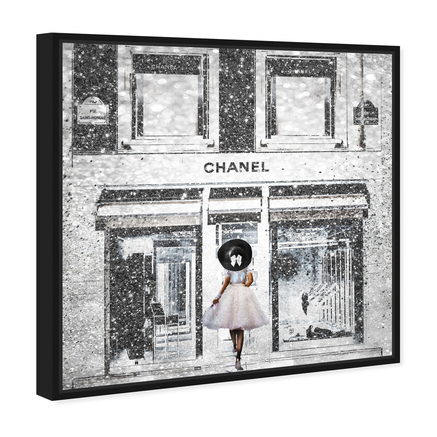 Angled view of Queen of the Store Caramel featuring fashion and glam and road signs art.