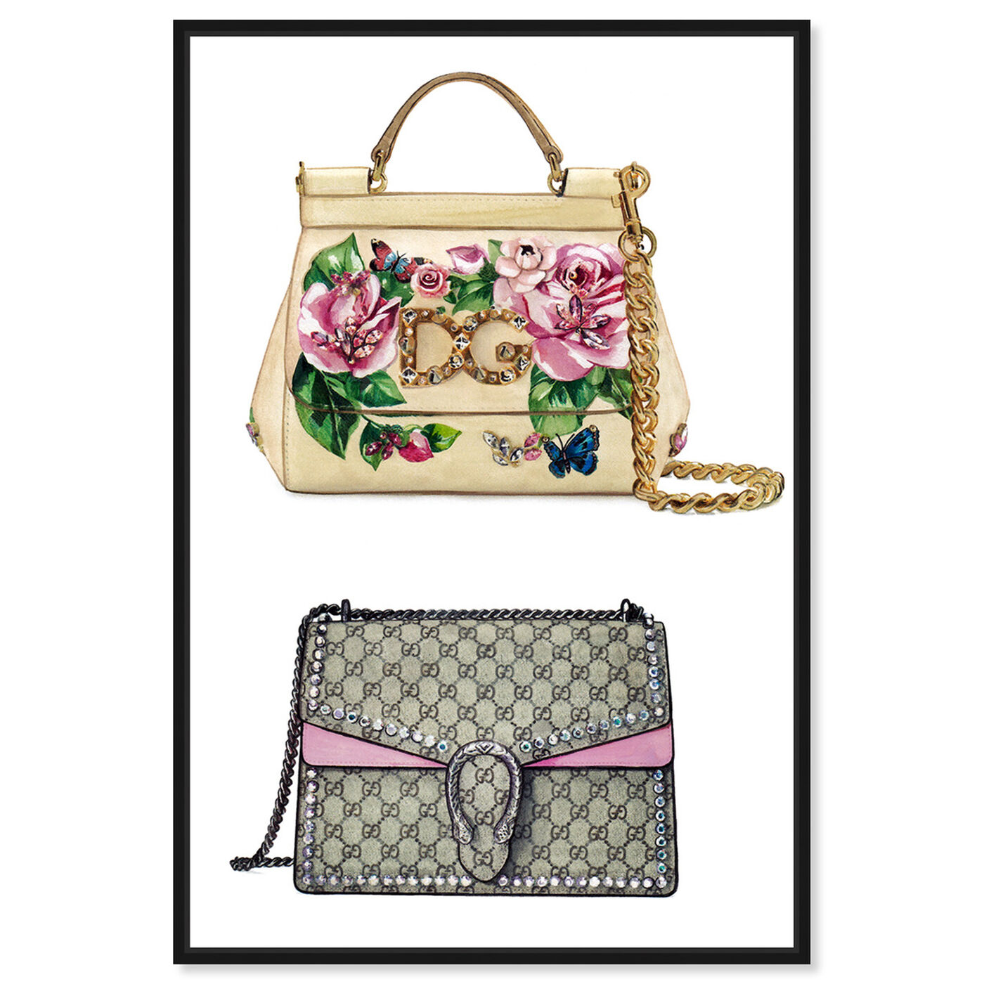 Front view of Doll Memories - My Favorite Bag featuring fashion and glam and handbags art.
