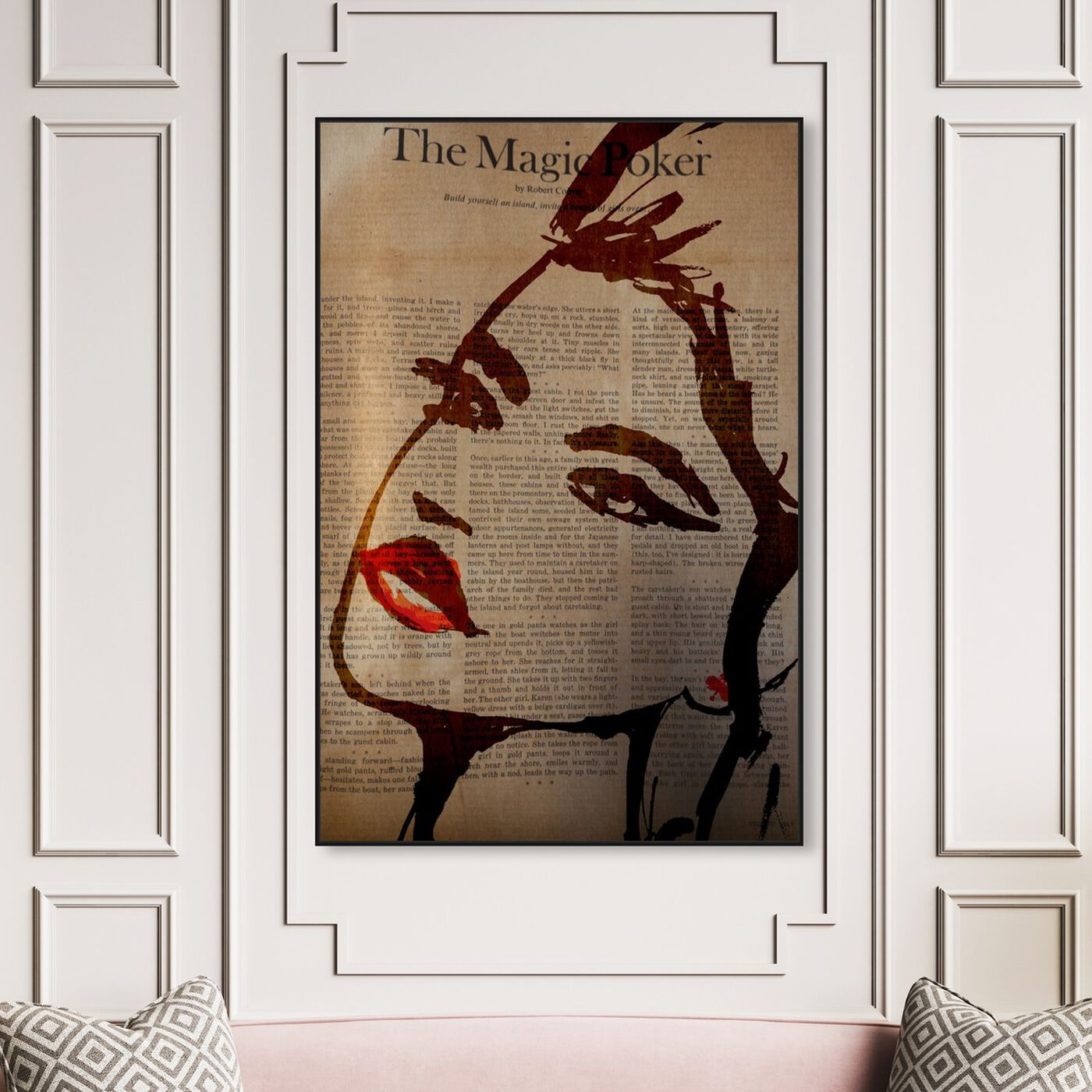 Hanging view of The Magic Poker featuring fashion and glam and portraits art.