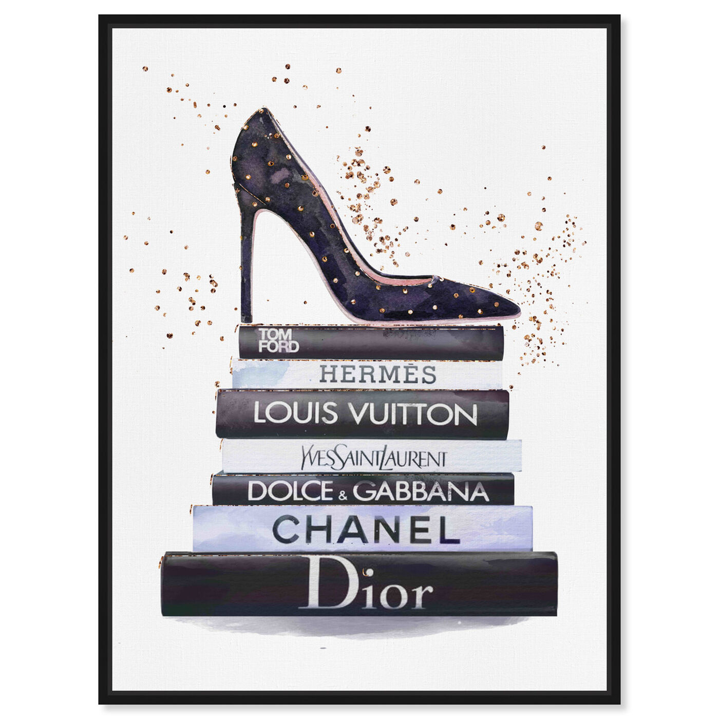 Front view of Glam Shoe at daytime featuring fashion and glam and shoes art.
