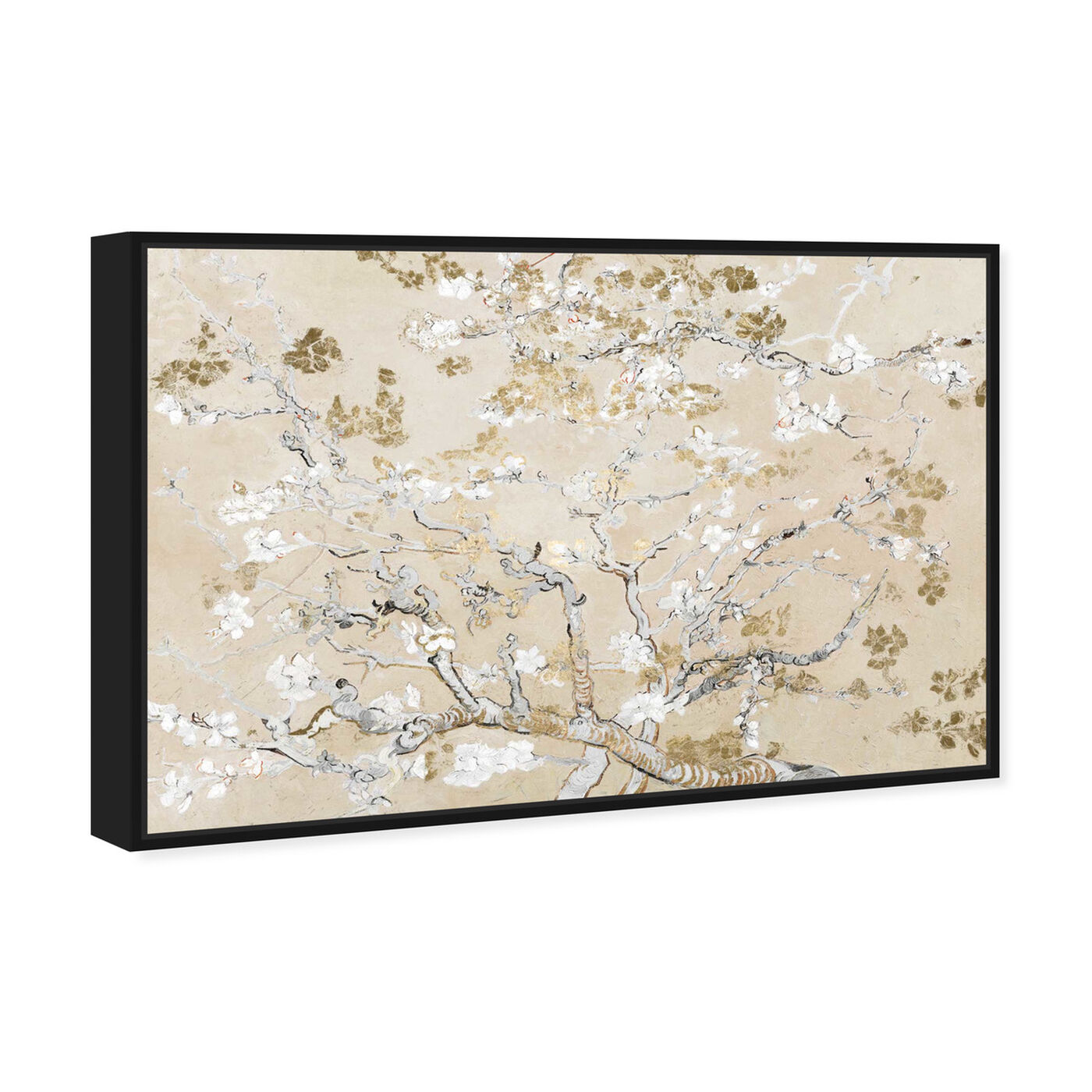 Angled view of Van Gogh in Golden Blossoms Inspiration featuring floral and botanical and gardens art.