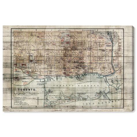 Vintage Toronto Map