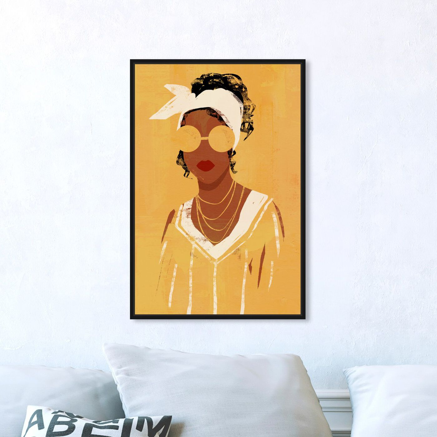 Hanging view of Golden Radiance featuring fashion and glam and accessories art.