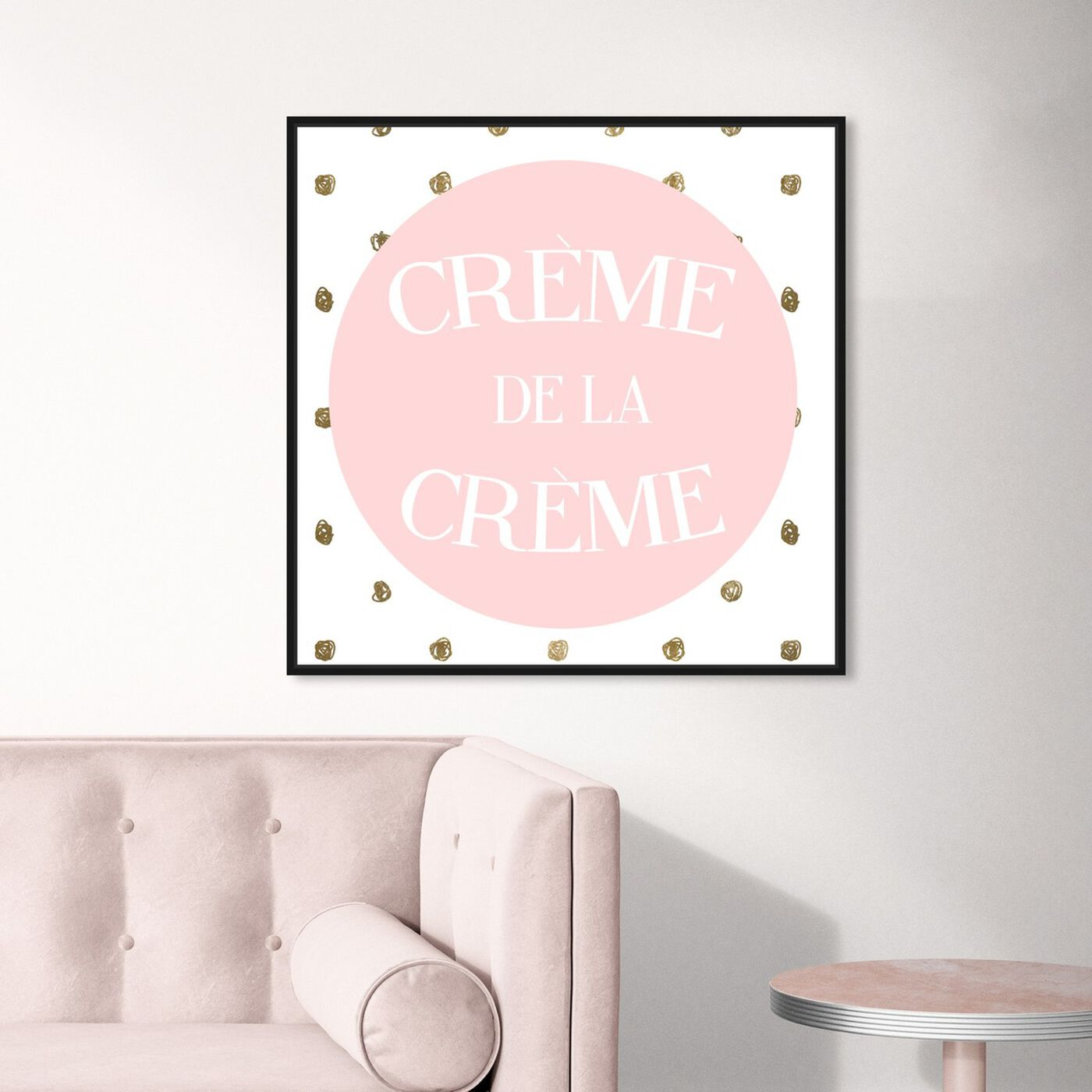 Hanging view of The Best In Polka Dots I featuring typography and quotes and love quotes and sayings art.