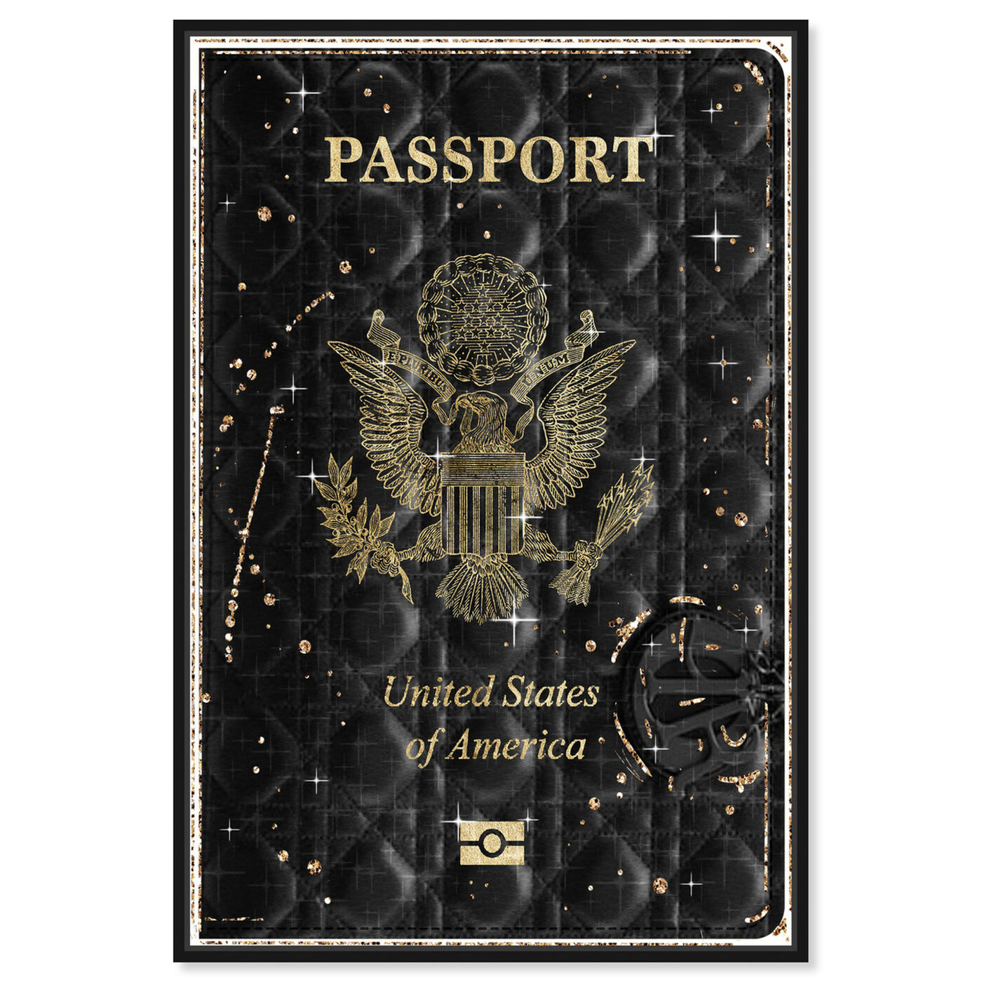 Front view of Lux Passport featuring fashion and glam and travel essentials art.
